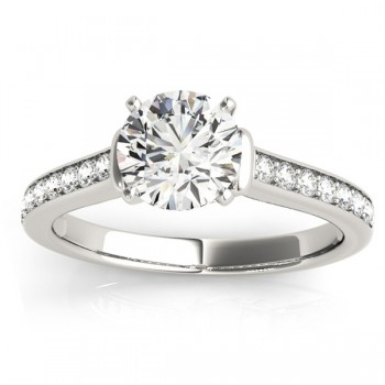 Diamond Accent Engagement Ring 14k White Gold (0.22ct)
