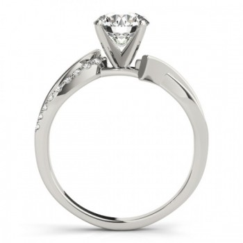 Diamond Twist Bypass Engagement Ring Setting 14k White Gold (0.09ct)