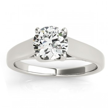 Lucida Solitaire Cathedral Engagement Ring 14k White Gold