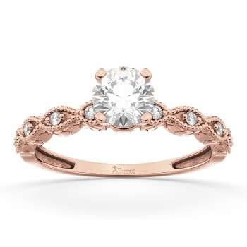 Petite Marquise Diamond Engagement Ring 18k Rose Gold (0.10ct)