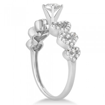 Heart Shape Diamond Engagement & Wedding Ring 14k White Gold (0.50ct)