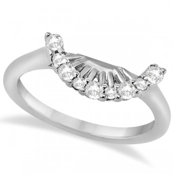 Contour Diamond Wedding Bridal Band Palladium Prong Setting (0.19ct) This beautiful 0.19ct wedding band for women, set in palladium, is the best way to say I love you. It features near-colorless diamonds of G-H color and VS2-SI1 clarity, [prong set in a contour style.There is also a matching engagement ring, sold separately. Purchase both together to complete a bridal set.