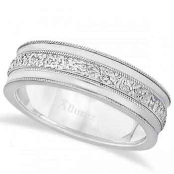 Carved Men 39s Wedding Ring