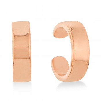 Flat Cuff Earrings 14k Rose Gold These flat ear cuffs are the perfect accessories for the fashionable, chic woman. The stylish design will complement your look with ease. Crafted in stunning 14K Rose Gold, these cuff earrings are great for any occasion.