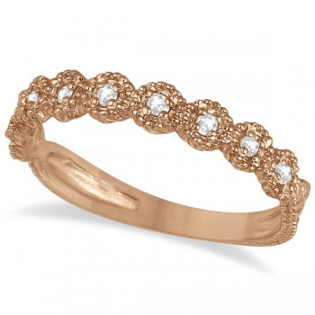 Diamond Stackable Ring Band in 14k Rose Gold (0.20 ctw)