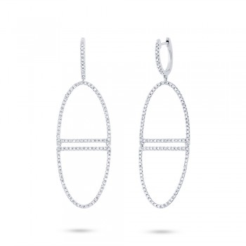 0.68ct 14k White Gold Diamond Earrings