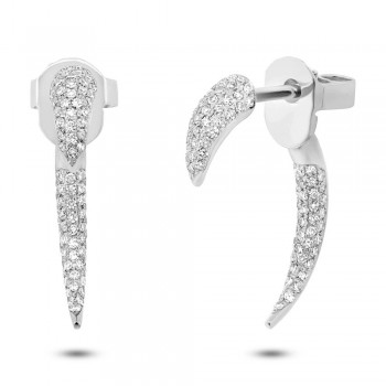 0.37ct 14k White Gold Diamond Ear Jacket Earrings