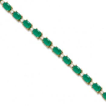 Emerald & Diamond Tennis Bracelet Trophy Wife Fashions