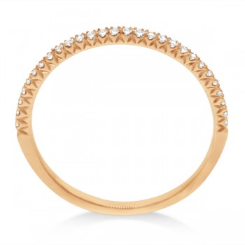 Micro Pave Diamond Ring Guard 18k Rose Gold by Hidalgo (0.11 ct)