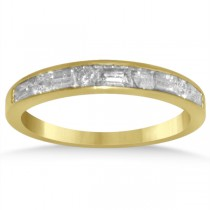 Diamond Round & Baguette Wedding Band in 14k Yellow Gold (0.50ct)