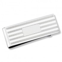 Fancy Striped Men's Money Clip Sterling Silver