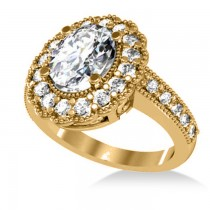 Diamond Oval Halo Engagement Ring 14k Yellow Gold (2.78ct)