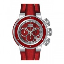 Invicta Men's 24435 Reserve Quartz Multifunction Silver, Red Wood Dial Watch