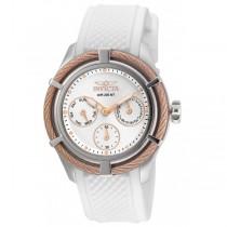 Invicta Women's 24457 Bolt Quartz Chronograph Silver Dial Watch
