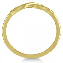 Plain Metal Infinity Loop Right-Hand Fashion Ring in 14k Yellow Gold