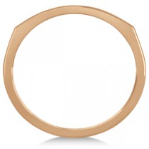 Curved Sideways Cross Ring for Women 14K Rose Gold