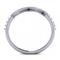 Round Diamond Heartbeat Pulse Vital Sign Ring 14k White Gold (0.42ct)
