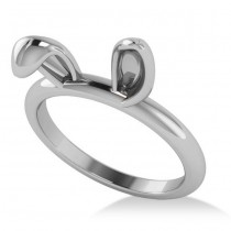 Bunny Ears Fashion Ring 14k White Gold