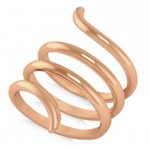Swirl Design Plain Metal Fashion Ring14k Rose Gold