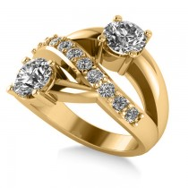Diamond Ever Together 2-Stone Ring 14k Yellow Gold (2.00ct)