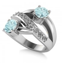 Aquamarine & Diamond Ever Together Ring 14k White Gold (2.00ct)