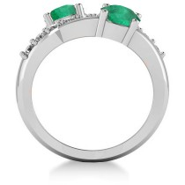 Emerald & Diamond Ever Together Ring 14k White Gold (2.00ct)