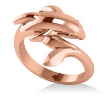 Summertime Dolphin Fashion Ring 14k Rose Gold
