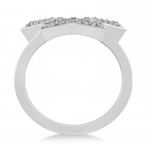 Galaxy Star Diamond Accented Ladies Ring 14k White Gold (0.35ct)