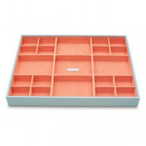 Women's Large Stackable Jewelry Tray with 21 Compartments in 4 Colors