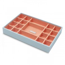 Women's Medium Stackable Jewelry Tray with 19 Compartments in 4 Colors