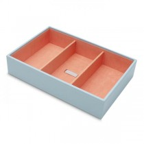 Womens Medium Stackable Jewelry Tray with 3 Compartments in 4 Colors