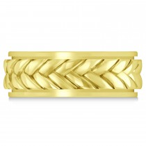 Men's Braided Band Eternity Ring 14k Yellow Gold