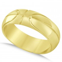 Men's Basketball Eternity Sports Band Ring 14k Yellow Gold