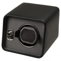 WOLF Windsor Men's Single Watch Winder in 2 Color Choices of Faux Leather