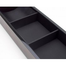 Wooden Valet Tray with 3 Compartments for Accessory Storage 3 Colors