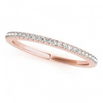 Diamond Accented Pave Wedding Band 14k Rose Gold (0.20ct)