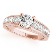 Trellis Diamond Engagement Ring w/ Side Accents 18k R. Gold (2.83ct)