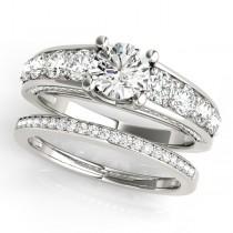 Trellis Diamond Engagement Ring Bridal Set Palladium (3.00ct)