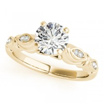 Vintage Round Solitaire Engagement Ring 14k Yellow Gold (2.05ct)