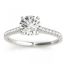 Diamond Single Row Engagement Ring Palladium (0.11ct)