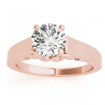 Bridal Antique Solitaire Engagement Ring 18k Rose Gold