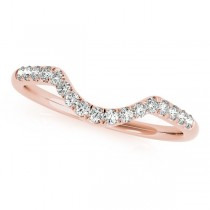 Diamond Accented Contour Wedding Band in 14k Rose Gold (0.20ct)