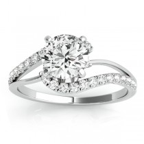 Diamond Split Shank Engagement Ring Setting Palladium (0.31ct)