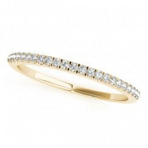 Diamond Accented Wedding Band 14k Yellow Gold (0.14ct)