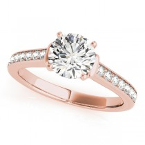 Diamond Accent Engagement Ring 14k Rose Gold (0.72ct)