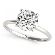Diamond Solitaire Engagement Ring Palladium (1.07ct)