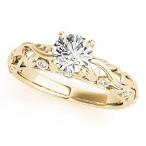 Diamond Antique Style Engagement Ring 18k Yellow Gold (0.68ct)