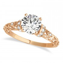 Diamond Antique Style Engagement Ring 14k Rose Gold (1.62ct)