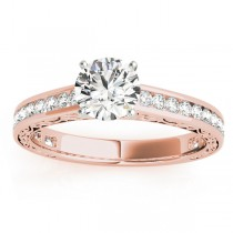 Diamond Channel Set Engagement Ring 18k Rose Gold (0.42ct)