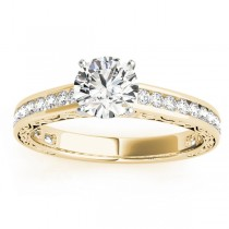 Diamond Channel Set Engagement Ring 18k Yellow Gold (0.42ct)